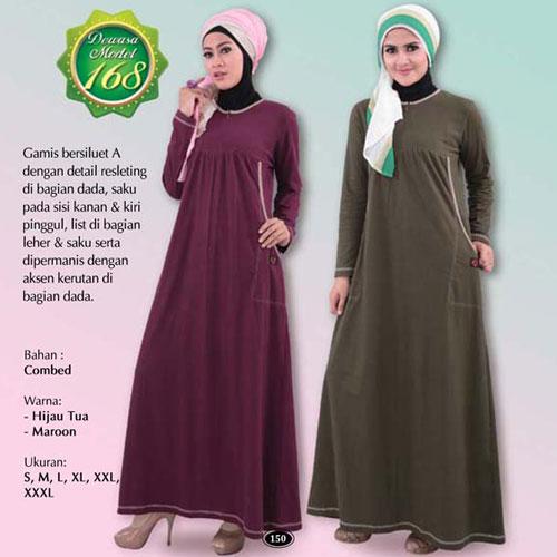 Model Gamis Untuk Wanita Bertubuh Gemuk Busana Muslim