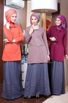 Busana Yang Fashionable Untuk Rok Panjang Busana Muslim Indonesia