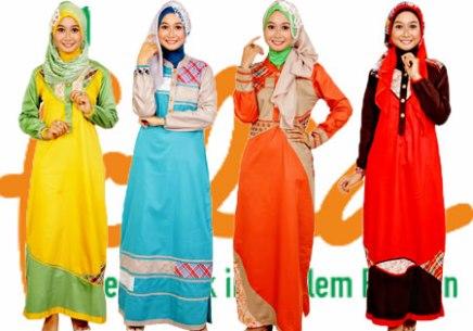 Model Baju Gamis Modern Busana Muslim Indonesia