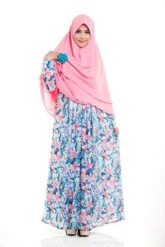 Kreasi Model Baju Gamis Terbaru 2015 Wanita Muslimah Modis